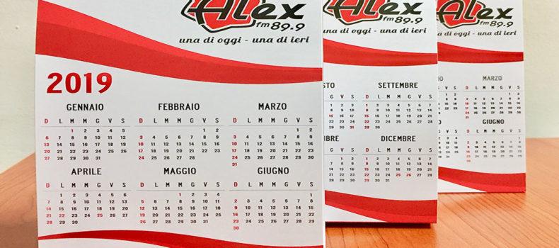 Vivi il 2019 con il Calendario di Alex 89.9
