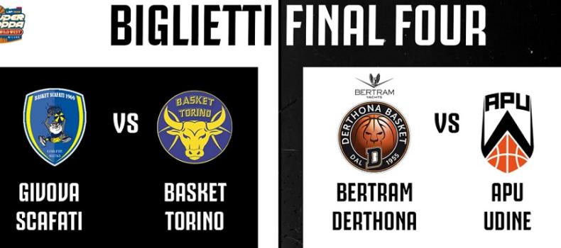 Derthona Basket: i biglietti per la Final Four di Venerdì a Milano