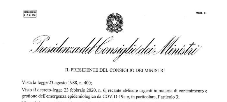 Conte firma il DPCM, Alessandria e Asti Zona Rossa