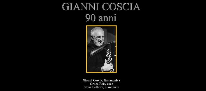 Alessandria festeggia i 90 anni di Gianni Coscia con un suo concerto