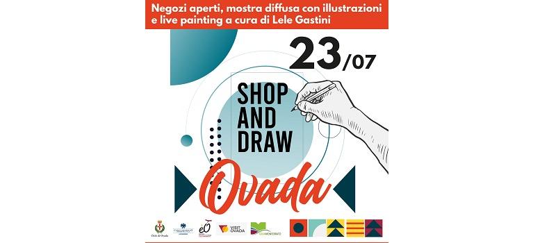 """Ovada """"Shop & Draw"""" Venerdì tra illustrazioni, shopping ed enogastronomia"""